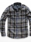 Men's L/S Arroyo Flannel in Asphalt Grey Barrows by The North Face
