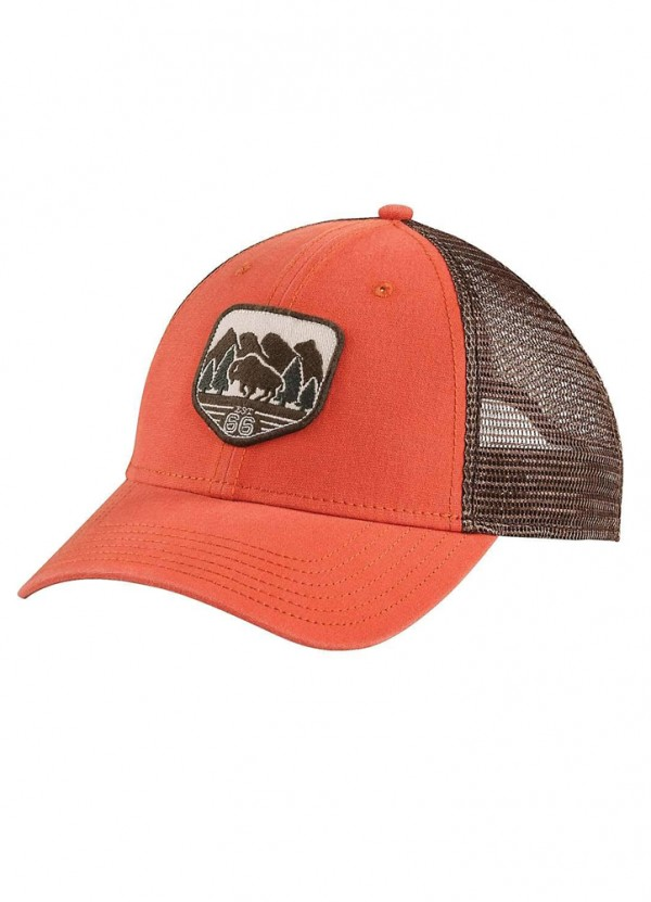 dd2260bf0d969 Patches Trucker Hat in Tibetan Orange by The North Face