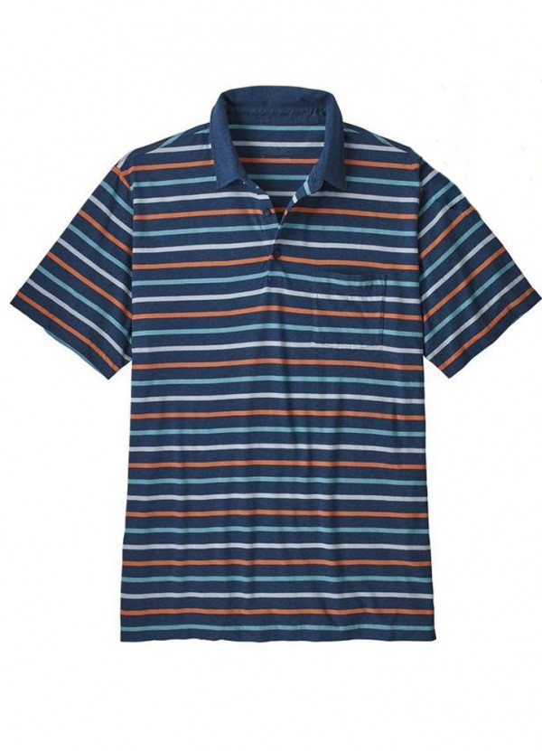 Men's Squeaky Clean Polo in Terrain Multi: Stone Blue by Patagonia