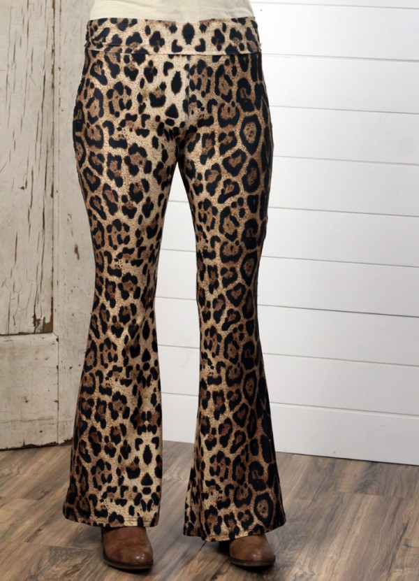 Bonnie Bell Pant in Leopard by Crazy Train