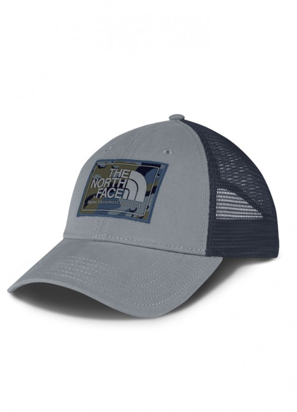 3420263cd Mudder Trucker Hat in Mid Grey/Shady Blue Camo by The North Face