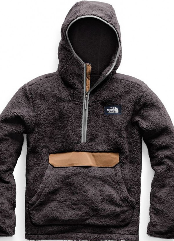 Men's Campshire Pullover Hoodie in Weathered BlackCargo Khaki by The North Face