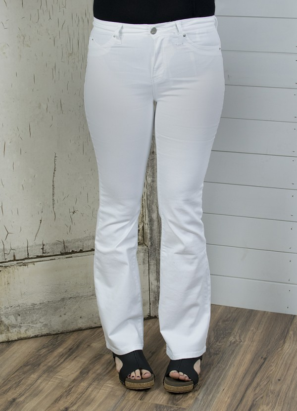 2701875ed8f493 Luxe Lift High Rise Flare in White by YMI | The Denim Shop