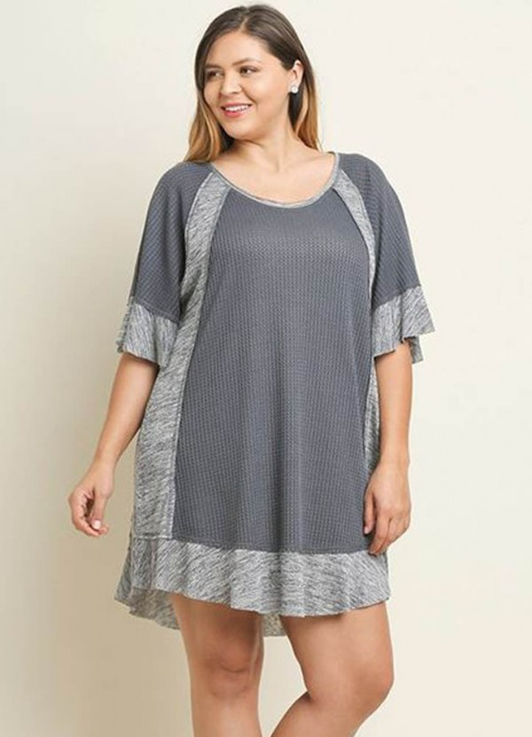 Waffle Tunic in Charcoal by Umgee