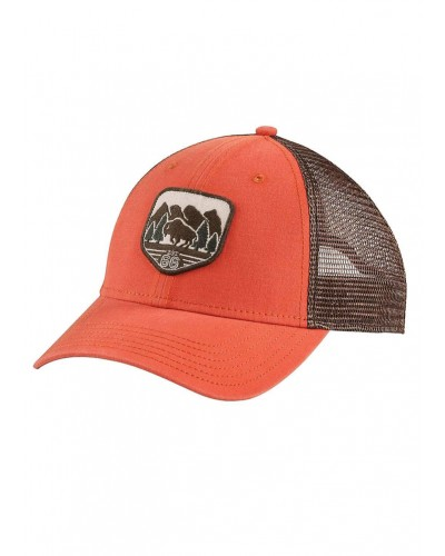 Patches Trucker Hat in Tibetan Orange by The North Face