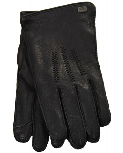 Mens TC Deerskin Touchpoint Wragnell Glove w /Detail in Black by UGG