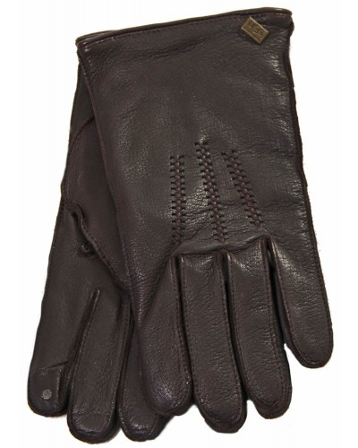 Mens TC Deerskin Touchpoint Wragnell Glove w /Detail in Brown by UGG
