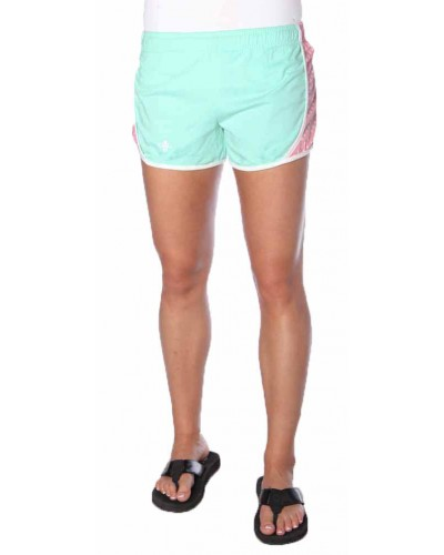 Mint Shorts with Pink Polka Dots by Lily Grace
