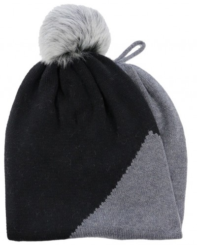 Snoot w/Toscana Trim Snood + Hat in Black by Ugg