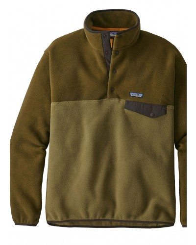 Men's LW Synch Snap-T Pull Over in Cargo Green by Patagonia
