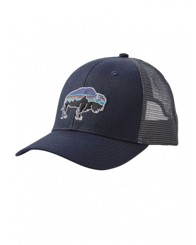 Fitz Roy Bison Trucker Hat in Navy Blue by Patagonia
