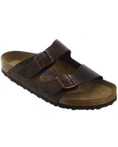 Arizona Soft Footbed in Habana Oiled Leather by Birkenstock