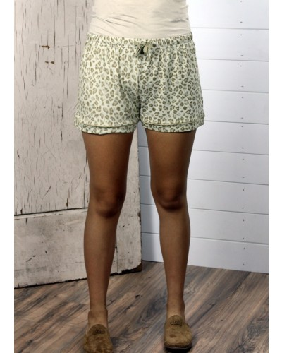 Leopard Sleep Shorts in Tan/Brown by The Royal Standard