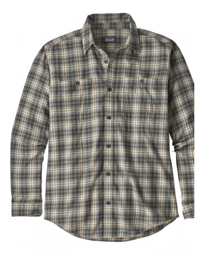 Men's L/S Pima Shirt in Paddler:Tailored Grey by Patagonia