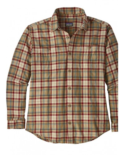 Men's L/S Cotton Shirt in Mojave Khaki by Patagonia
