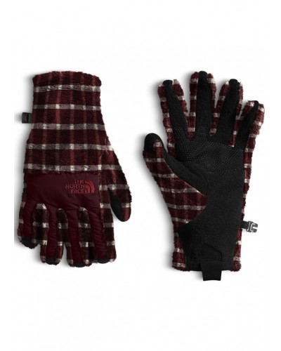 Denali Thermal Etip Gloves in Sequoia Red Basketweave Embossed by The North Face