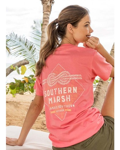 Branding Nautical Knot in Coral by Southern Marsh