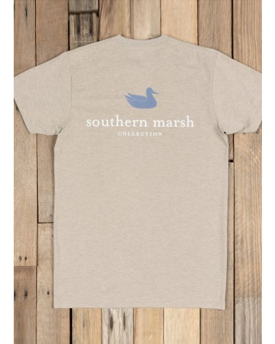 Authentic in Washed Burnt Tee by Southern Marsh