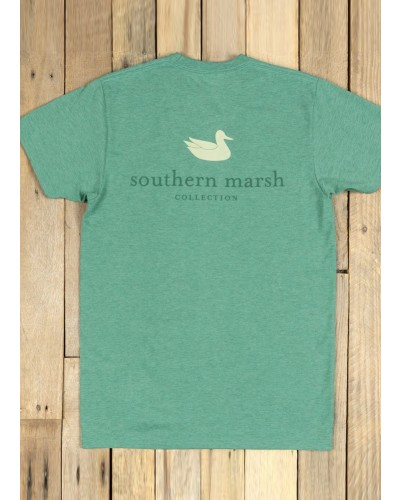 Authentic in Washed Hunter Tee by Southern Marsh