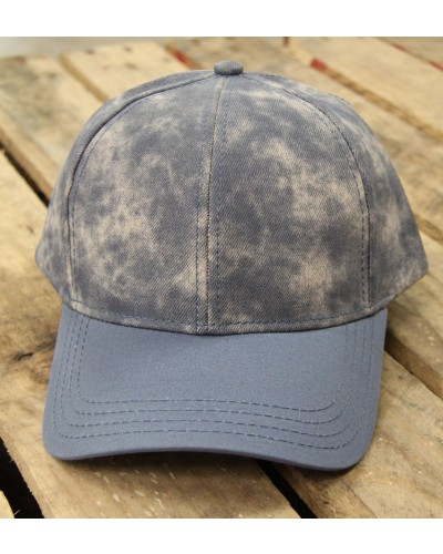 Distressed Baseball Cap in Ice Blue by CC Beanie