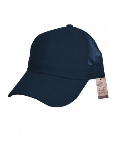 CC Brand Pony Cap w/Mesh in Navy by Hana