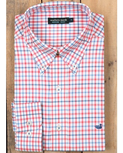 Chambers Gingahm in Strawberry Fiz/Blue by Southern Marsh