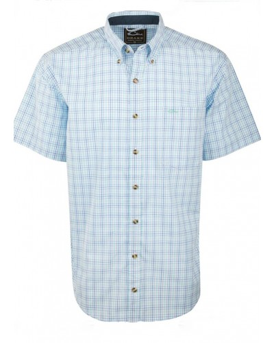 Big Easy Plaid Shirt in Cobalt/Aqua by Drake