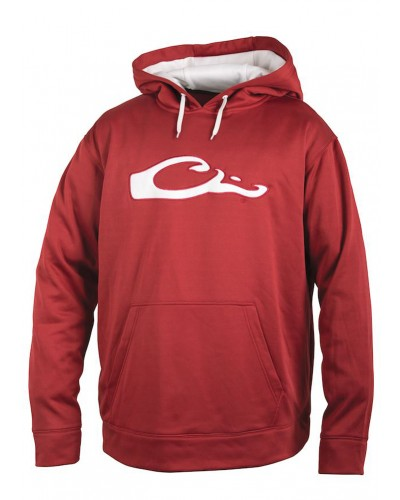 Performance Hoodie Cardinal/White by Drake