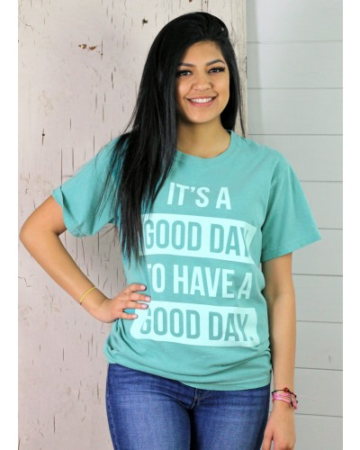 Good Day Tee in Teal by Oliver and Otis