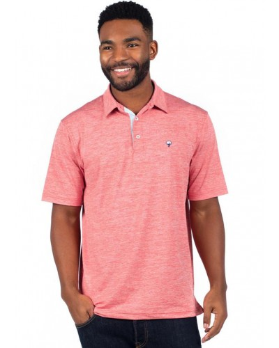 Grayton Heather Polo in Terra Cotta by Southern Shirt