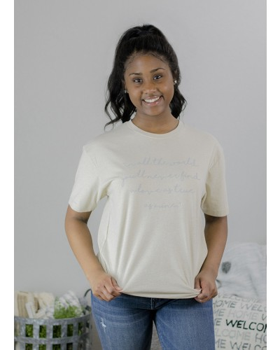 In All the World Tee in Cream by Truelove