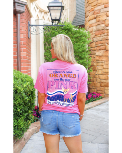 S/S Orange Was the New Pink Tee in Pink Funfetti by Jadelynn Brooke
