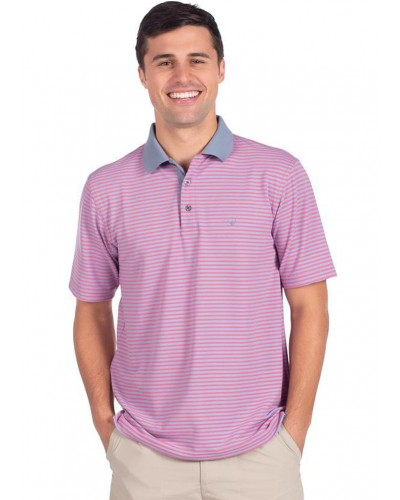 King Street Pique Polo in Rum Punch by Southern Shirt