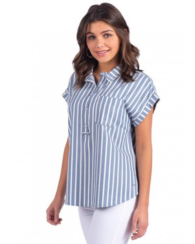 Naples Popover in Nautical Night by Southern Shirts