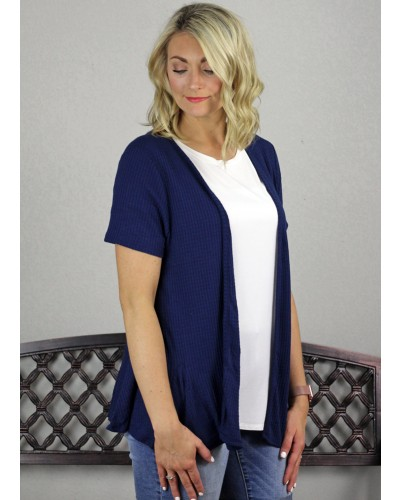 Cardigan in Dark Navy by PSY Apparel