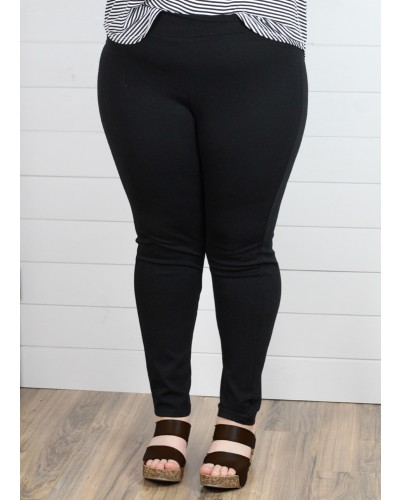 Plus Pants in Black by Spin USA