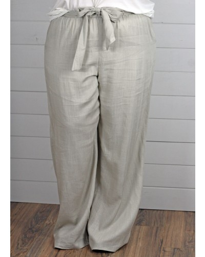Pants with Belt in Natural by Spin