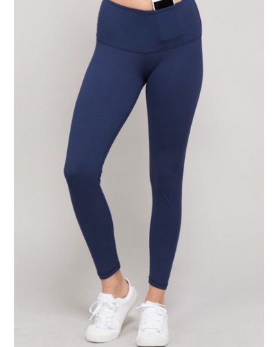 Full Length Leggings in Navy by Rae Mode