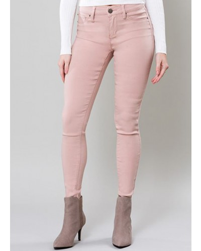 Mid Rise Hyper Stretch Skinny in Rosette by YMI