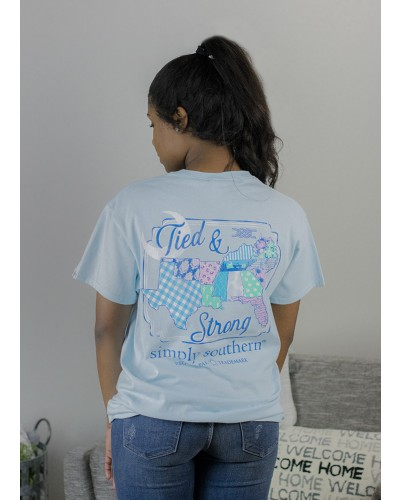 Preppy South Tee in Ice by Simply Southern