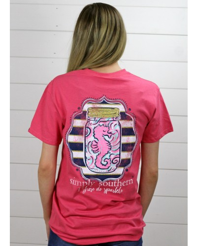 Preppy Shore Tee in Begonia by Simply Southern