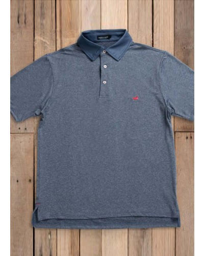 Rutledge Heather Polo in Navy by Southern Marsh