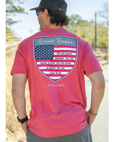 S/S Reagan Quote Tee in Heather Crimson by Burlebo
