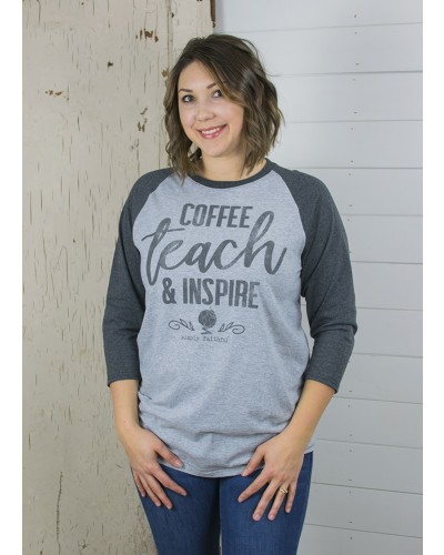 Inspire Tee in Heather/Dark Grey by Simply Southern