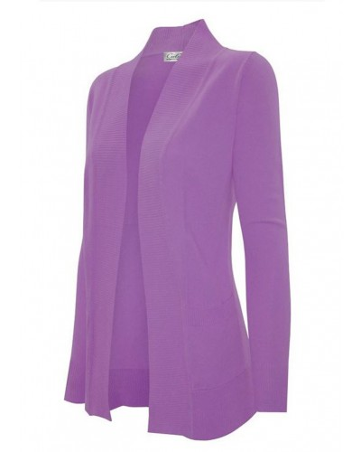 Chloe Pocket Cardigan in Light Purple