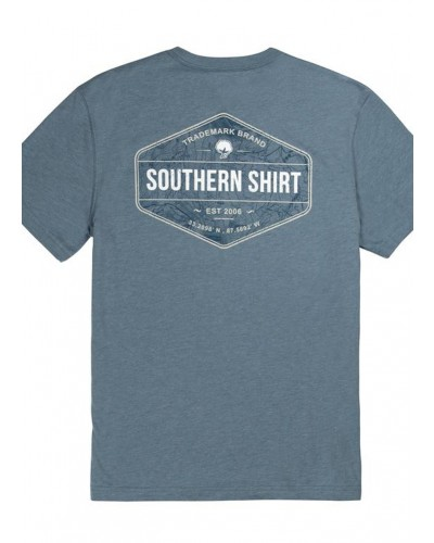 Men's S/S Topo Trademark Badge Tee in Captain Blue by Southern Shirt