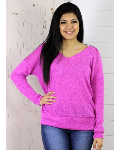 Pretty in Pink V-Neck Top by 143 Story