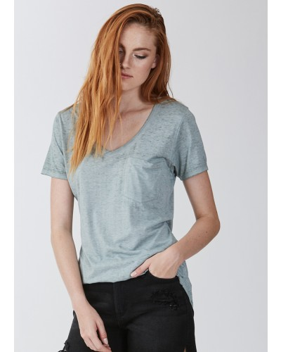 S/S Phoenix Burnout Tee in Fern by Another Love