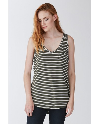 Rebecca Top in Olive/White by Another Love