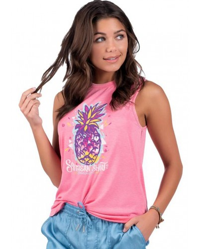 Vintage Burnout Tank in Pink Lemonade by Southern Shirt
